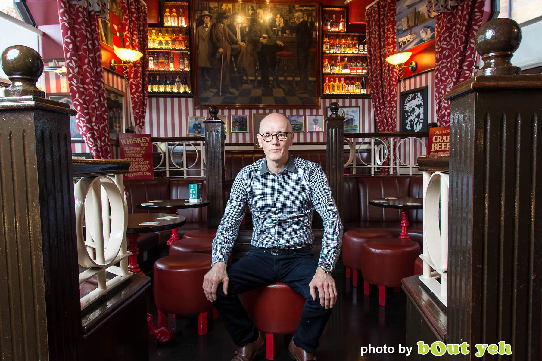 John Bittles, Bittles Bar, by Bout Yeh photographers Belfast - photo 5008. Editorial feature about John Bittles, owner of Bittles Bar, Belfast, Northern Ireland