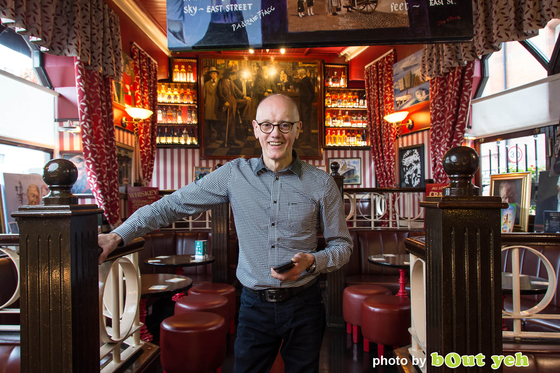 John Bittles, Bittles Bar, by Bout Yeh photographers Belfast - photo 5013. Editorial feature about John Bittles, owner of Bittles Bar, Belfast.
