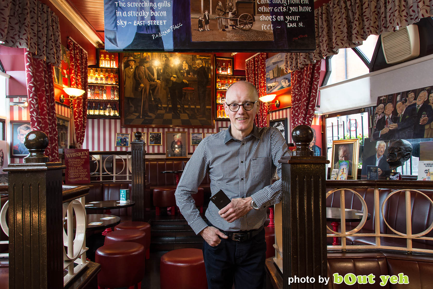 John Bittles, Bittles Bar, by Bout Yeh photographers Belfast - photo 5016. Editorial feature about John Bittles, owner of Bittles Bar, Belfast. Northern Ireland