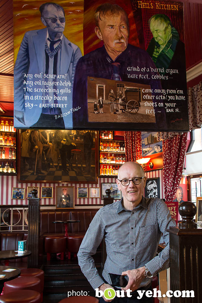 John Bittles, Bittles Bar, by Bout Yeh photographers, Belfast. Photo 5017. Editorial feature about John Bittles, owner of Bittles Bar, Belfast, Northern Ireland.