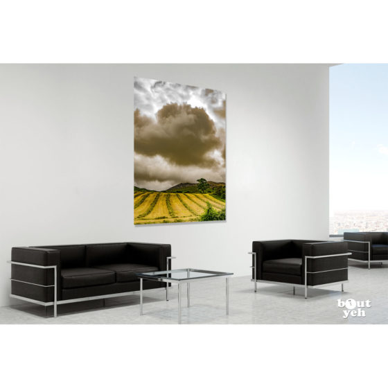 Clonmany cloudscape Donegal by sm - photographic print in room setting.