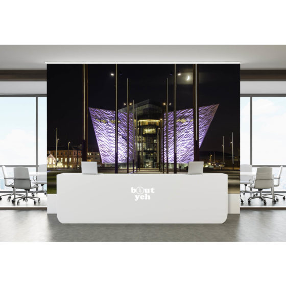 Titanic Belfast building at night - photo wallpaper 1018 6035 by Bout Yeh