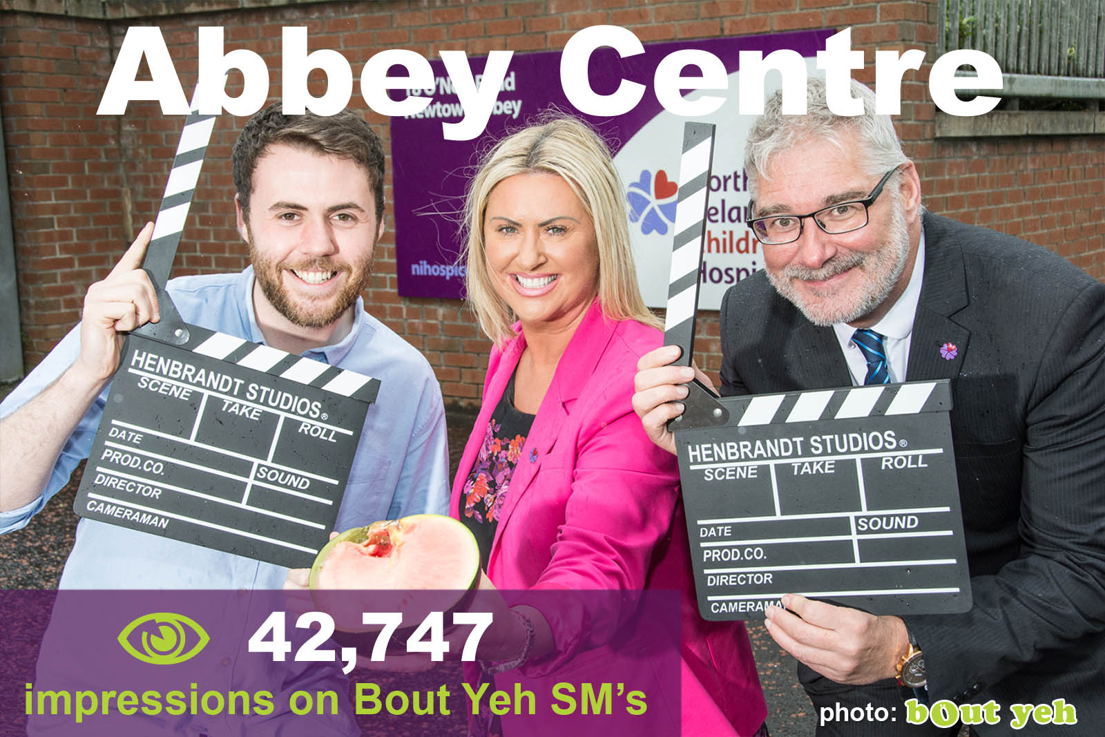 Social Media Marketing Consultants Belfast - Abbey Centre SMM campaign overview photo. Photo by Bout Yeh used in a Social Media Marketing campaign across Bout Yeh's Social Media platforms for Abbey Centre Northern Ireland.