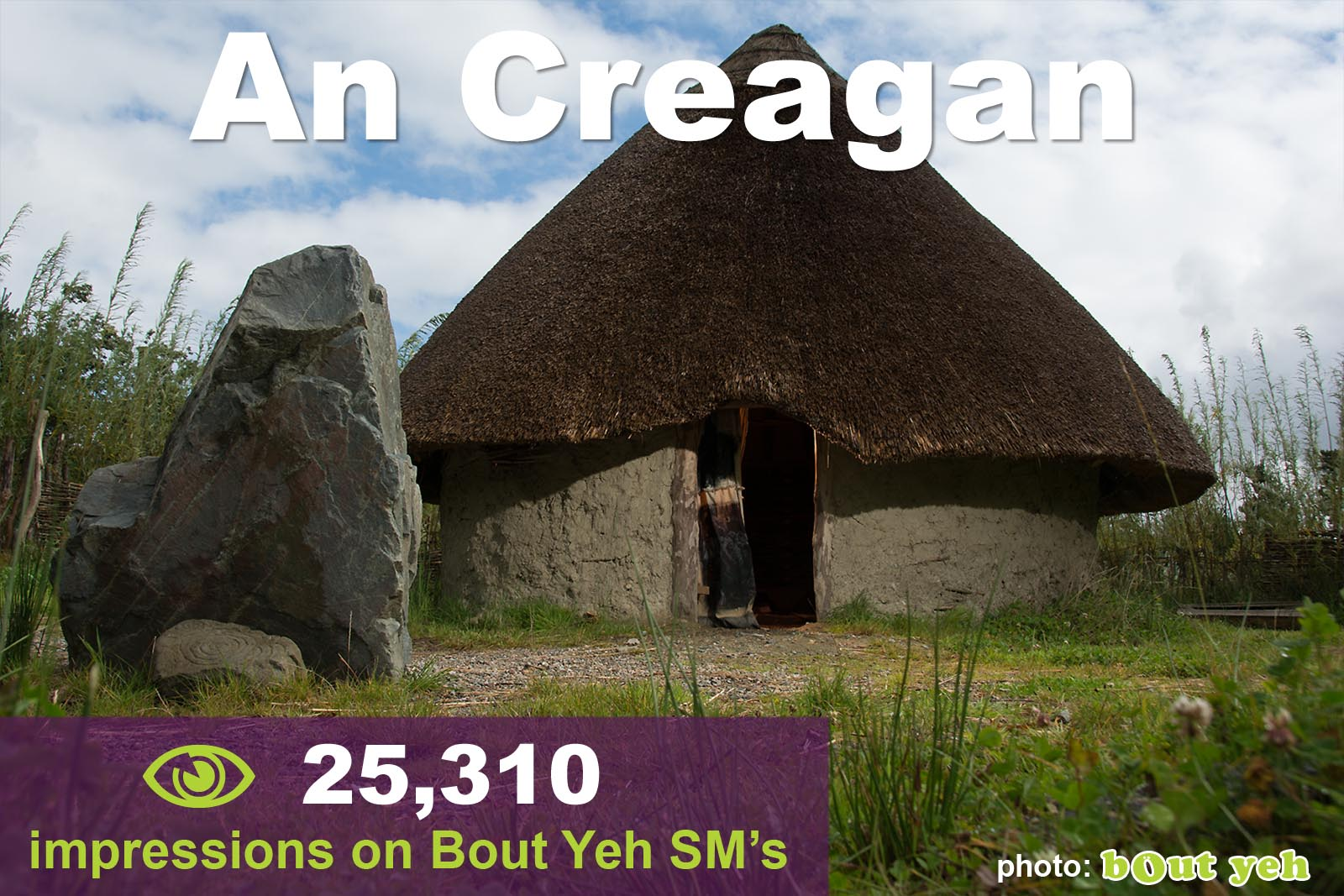 Social Media Marketing Consultants Belfast - An Creagan SMM campaign overview photo. Photo by Bout Yeh used in a Social Media Marketing campaign across Bout Yeh's Social Media platforms for An Creagan Northern Ireland.