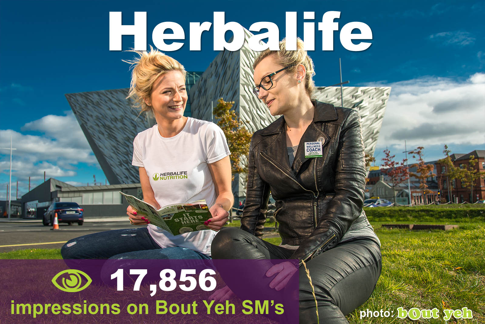 Social Media Marketing Consultants Belfast - Herbalife SMM campaign overview photo. Photo by Bout Yeh used in a Social Media Marketing campaign across Bout Yeh's Social Media platforms for Herbalife agent in Northern Ireland.