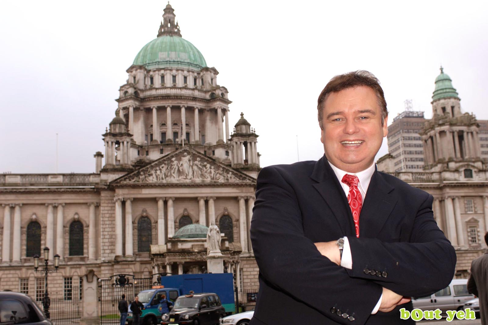 PR photographers Belfast portfolio photo 6115 of celebrity Eamonn Holmes in Belfast - Bout Yeh photography and video production services Belfast, Northern Ireland
