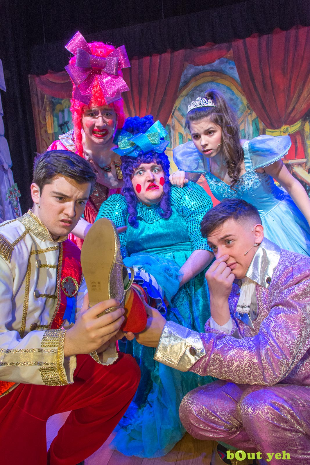 PR photographers Belfast portfolio photo 9971 of Cinderella pantomime at the Old Courthouse Theatre Antrim - Bout Yeh photography and video production services Belfast, Northern Ireland