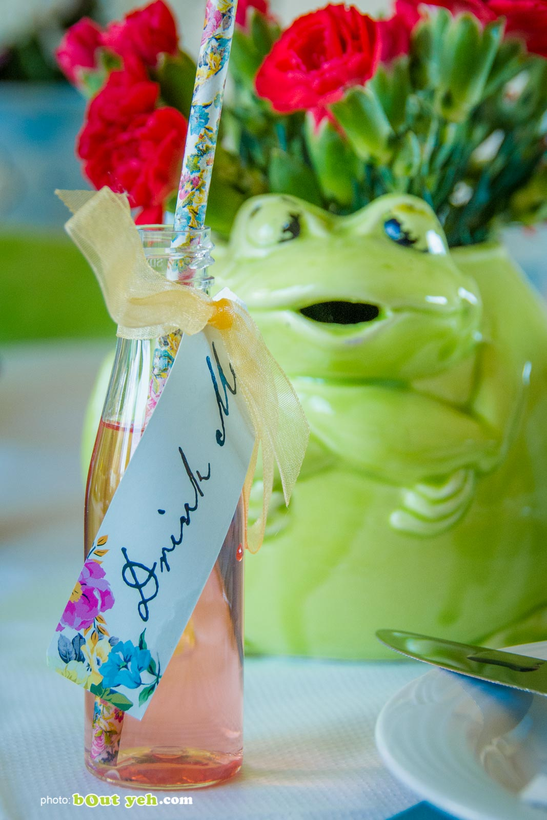 Drink Me illustration on small bottle at the Bout Yeh Brexit Mad Hatters Tea Party - photo 9233 by Bout Yeh photographers and video production Belfast Northern Ireland