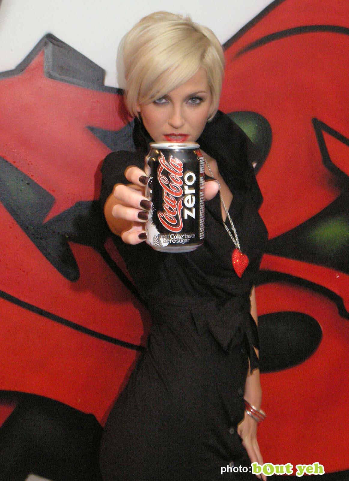 PR photographers Belfast portfolio photo 1014105 Sarah Harding promoting Coke Zero for Edelman in Belfast - Bout Yeh photography Belfast