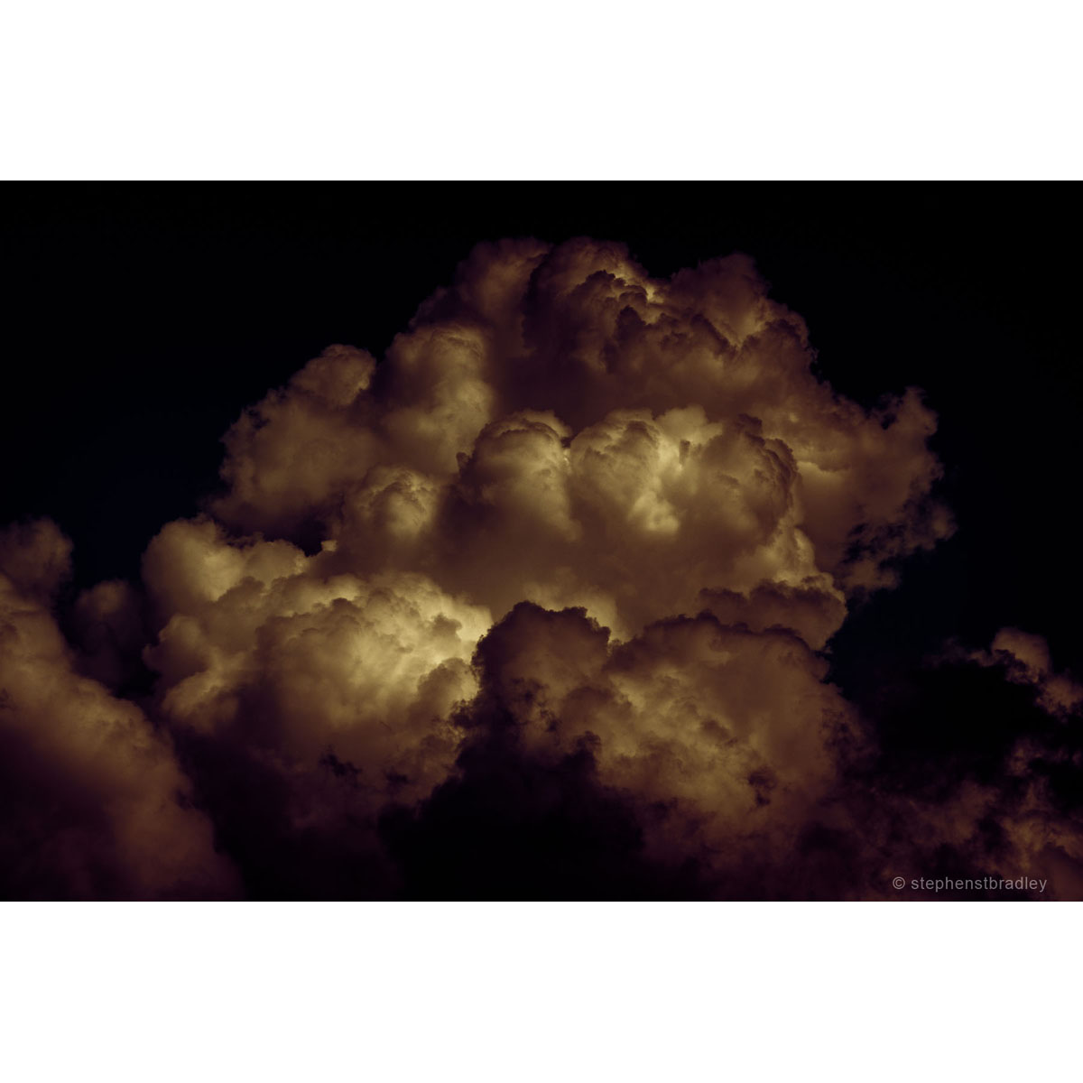Burnt Marshmallow - limited edition photo of clouds over Newtownabbey by photographer Stephen S T Bradley
