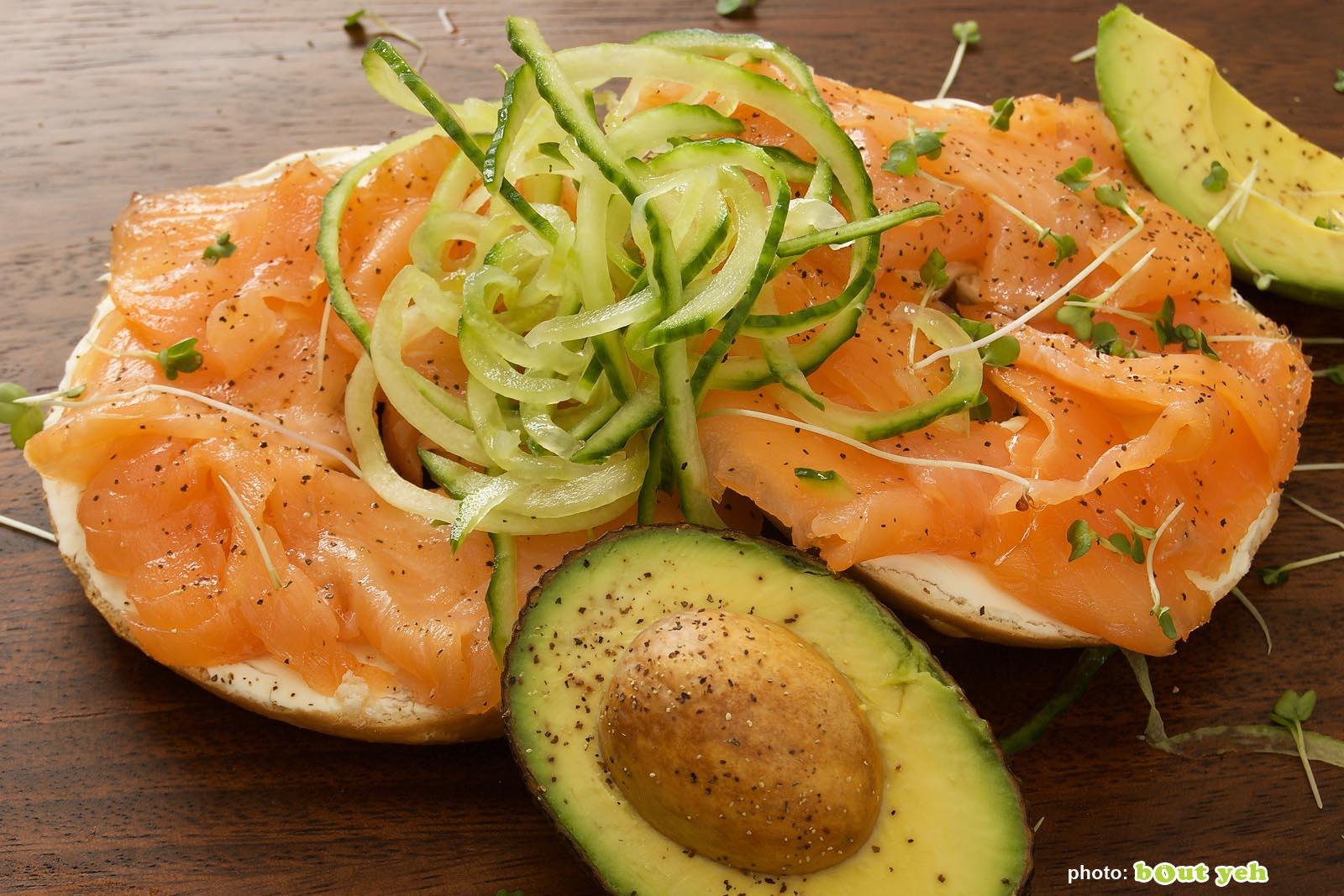 Food photographers Belfast portfolio photo 1305 - smoked salmon and avocado bagel