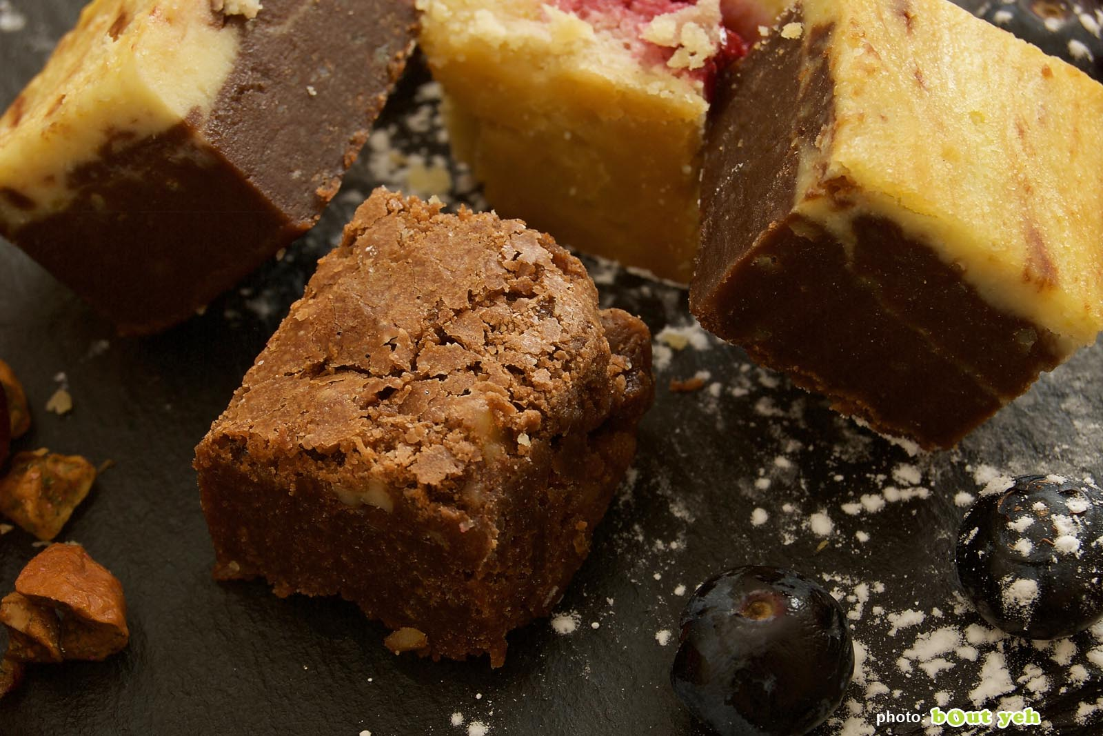 Food photographers Belfast portfolio photo 1374 - selection of traybakes