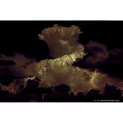 Night On Witch Mountain Redux - limited edition photographic print of a dramatic cloud formation over Mallusk, Northern Ireland