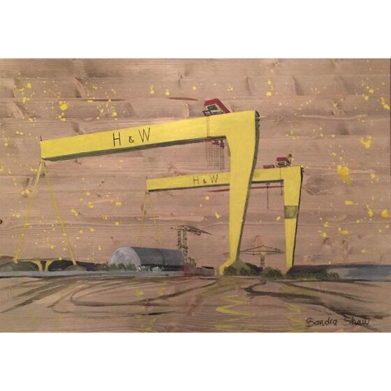 Painting for sale by Irish artist Sandra Shaw, Purpose