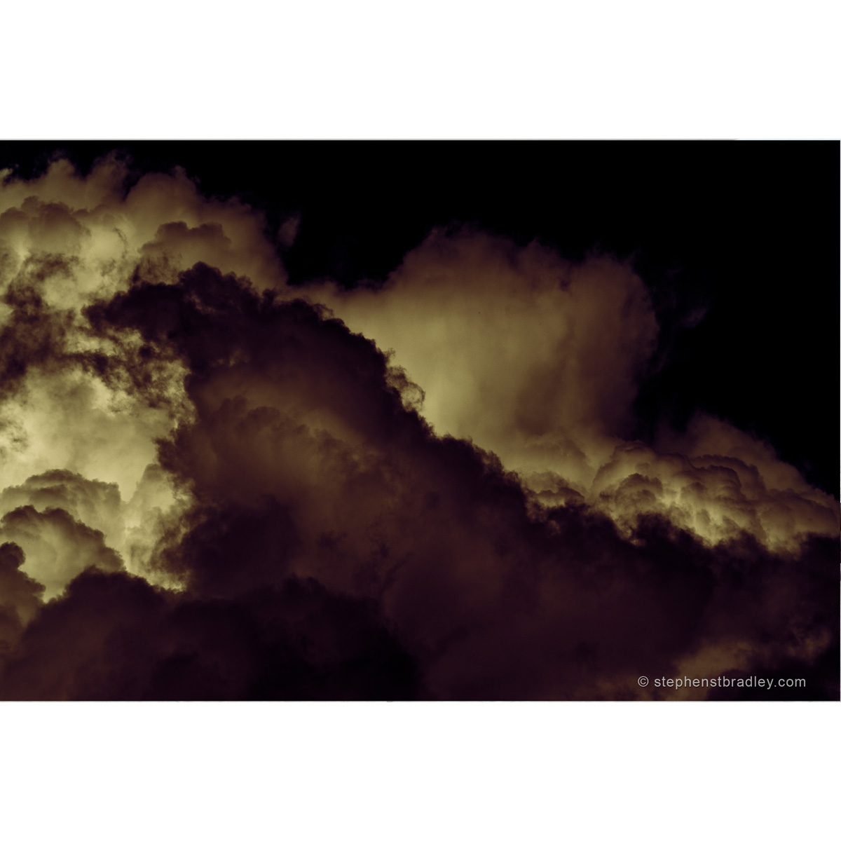 Rebirthed - limited edition photo of clouds over Glencorp, County Antrim, by photographer Stephen S T Bradley