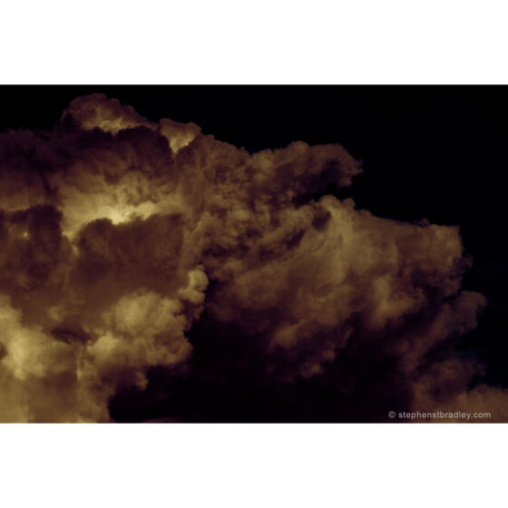 Sky Pig - detail of part of limited edition photograph of piglike clouds over Newtownabbey by photographer Stephen S T Bradley