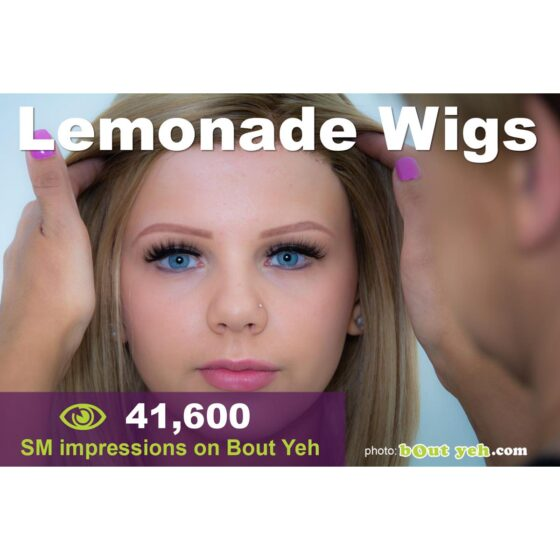 Shoot better images for Social Media - social media marketing tuition, Lemonade Wigs campaign photo