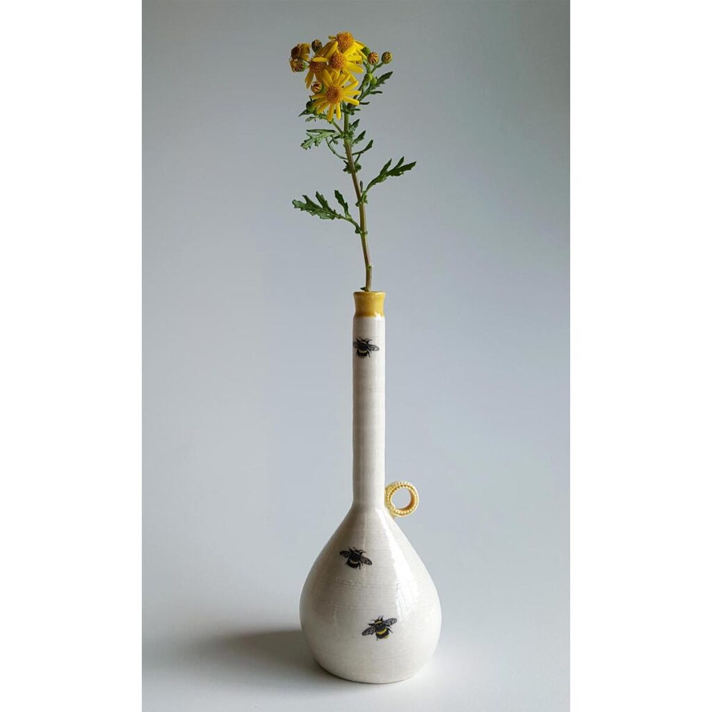 Irish Ceramics And Porcelain Tall Bottle Bud Vase By Red Earth Designs