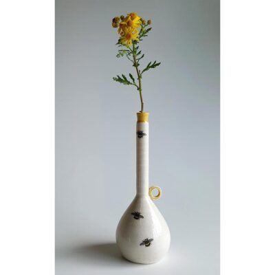 Irish Ceramics Stonewear Porcelain Tall Bud Vase by Red Earth Designs For Sale 135729