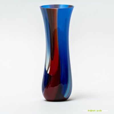Contemporary bullseye tulip vase - Irish glassware TV001 photo 1647-1