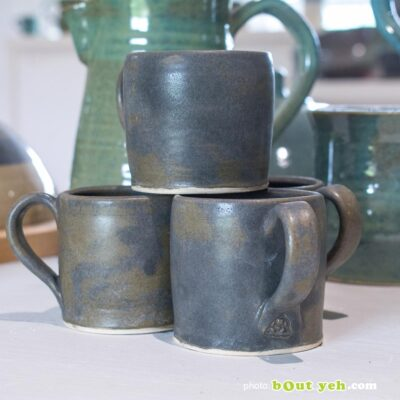 Contemporary Irish homeware ceramics - espresso set of two cups and two saucers, photo 1464