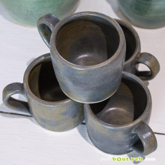 Contemporary Irish homeware ceramics - espresso set of two cups and two saucers, photo 1466