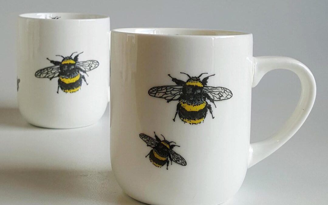 Bug mug – nature themed porcelain mug by Red Earth Designs