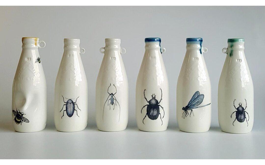 Northern Ireland Milk Bottle – stoneware porcelain by Red Earth Designs