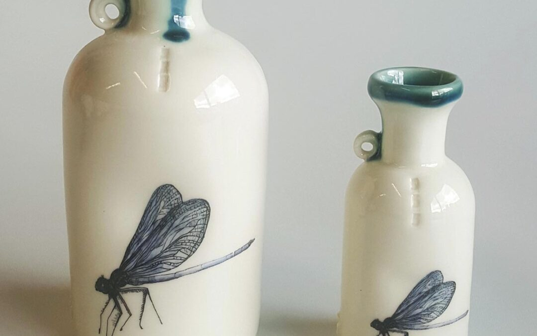 Dragonfly specimen bottle – hand made by Red Earth Designs