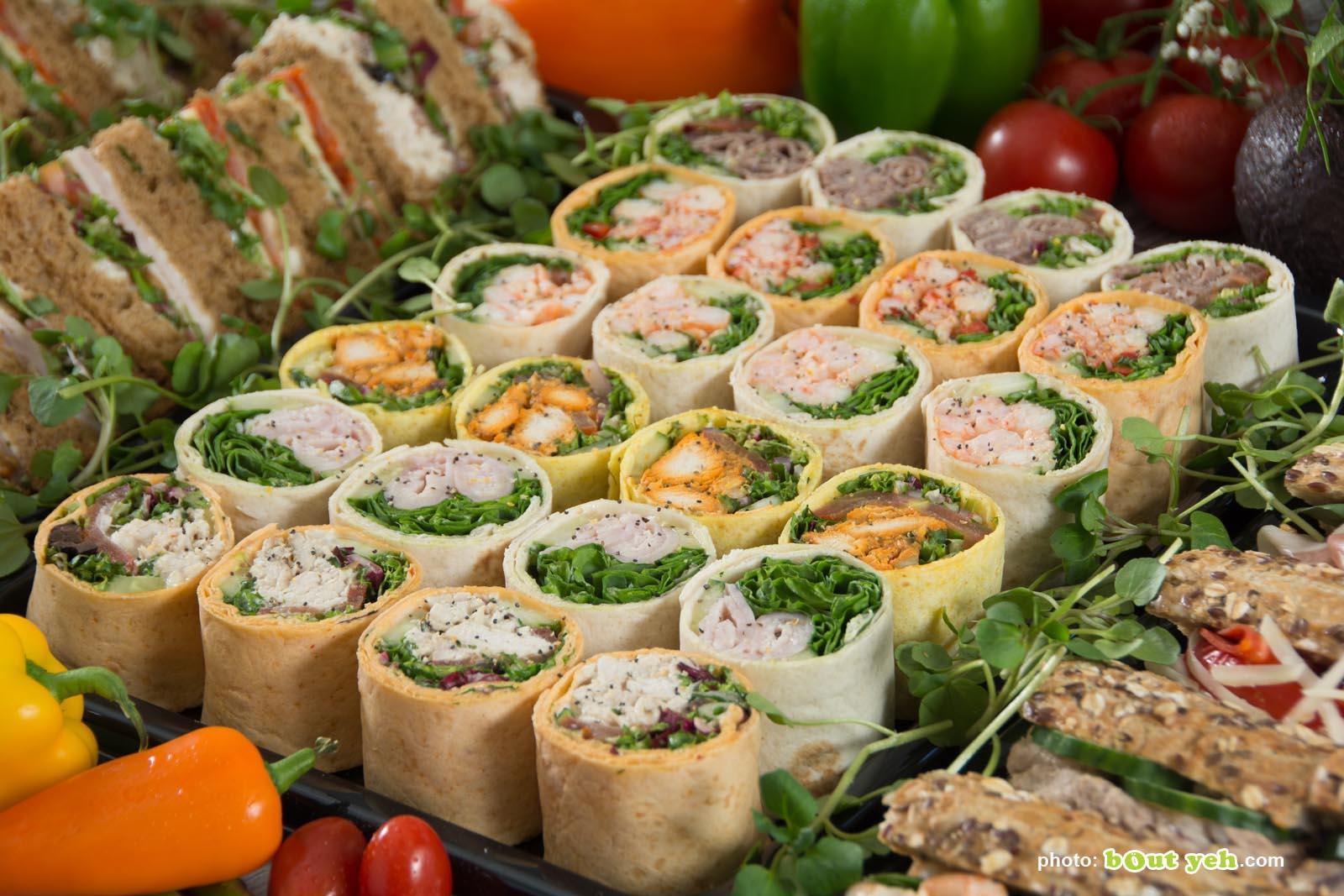 Food photographers Belfast portfolio photo 3923 - mini salad wraps