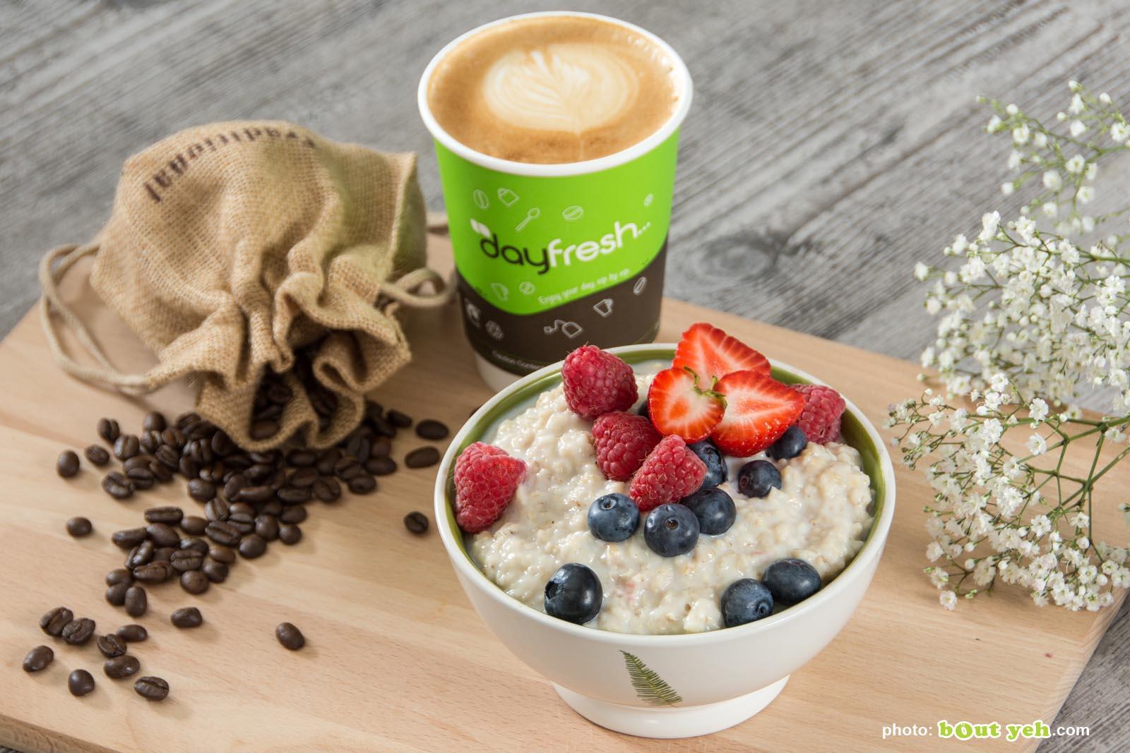Food photographers Belfast portfolio photo 3652 - coffee, porridge and fruit breakfast