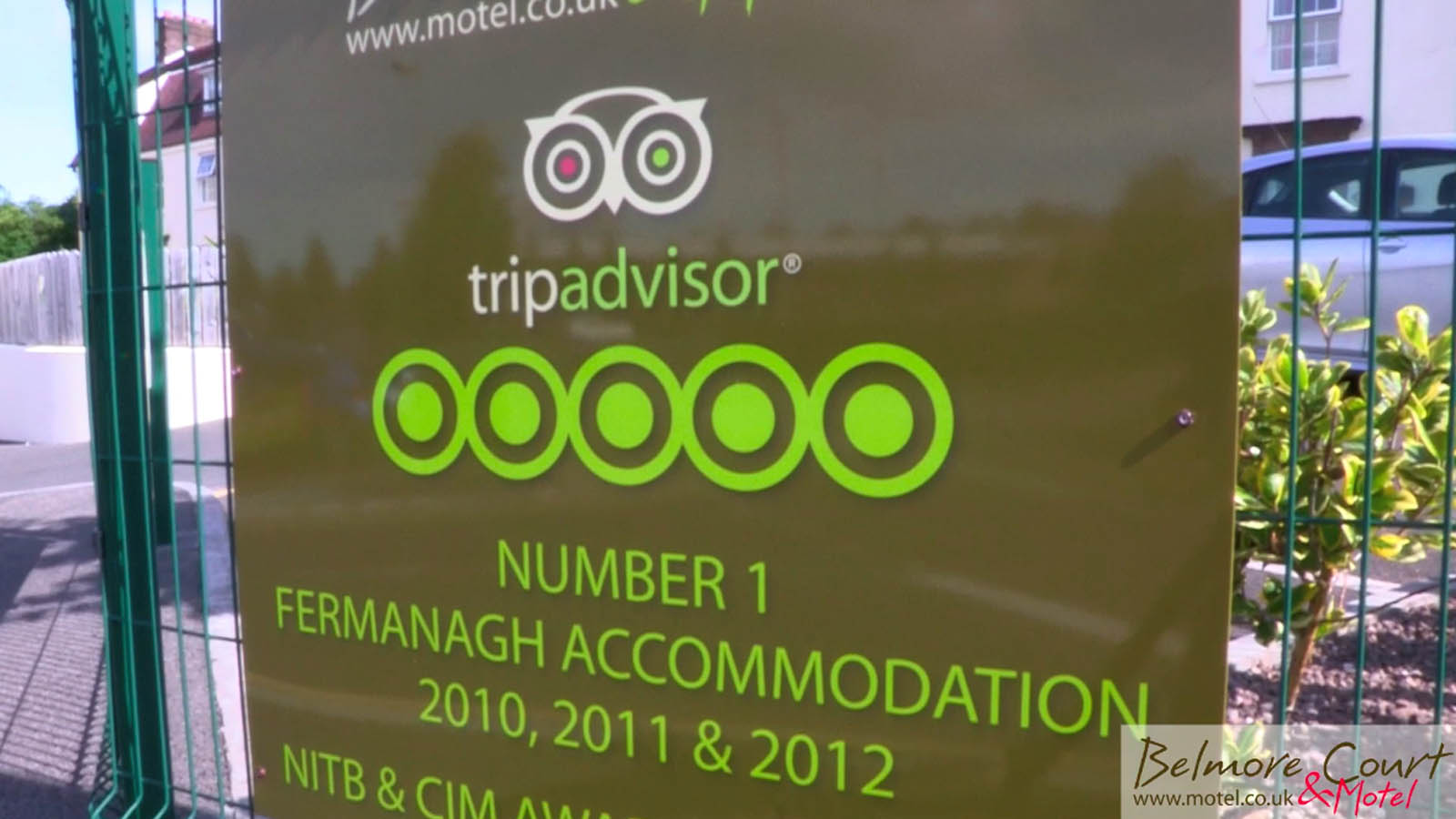 Hotel video production portfolio - Tripadvisor certification from video for Belmont Court Hotel by Bout Yeh video production Belfast, N. Ireland