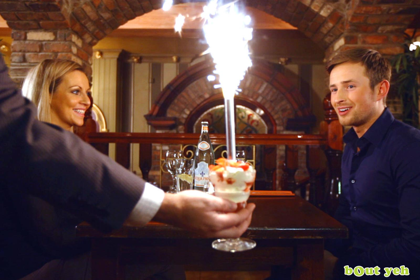 Cinema commercial for Benedicts of Belfast showing young couple in restaurant - Bout Yeh video production Belfast