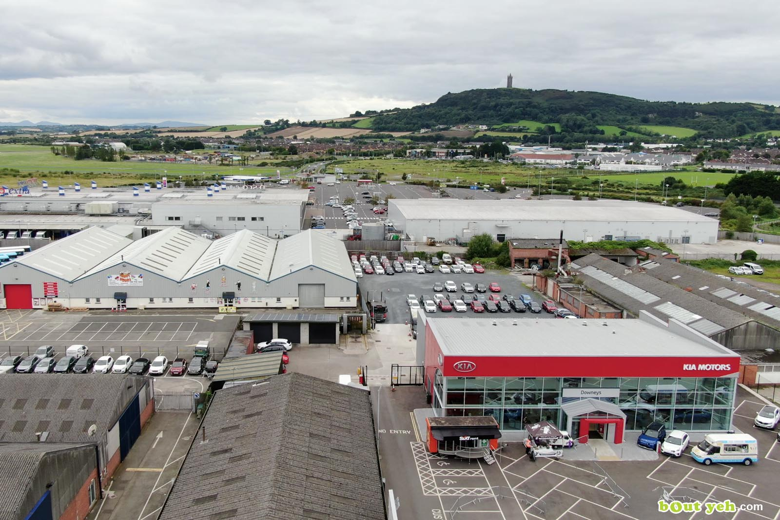 Aerial drone photography of Kia Cars Newtownabbey by Bout Yeh aerial drone photographers, Belfast, Northern Ireland - screenshot 2