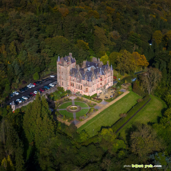 Aerial photograph of Belfast Castle and Cave Hill - photo 0001 detail