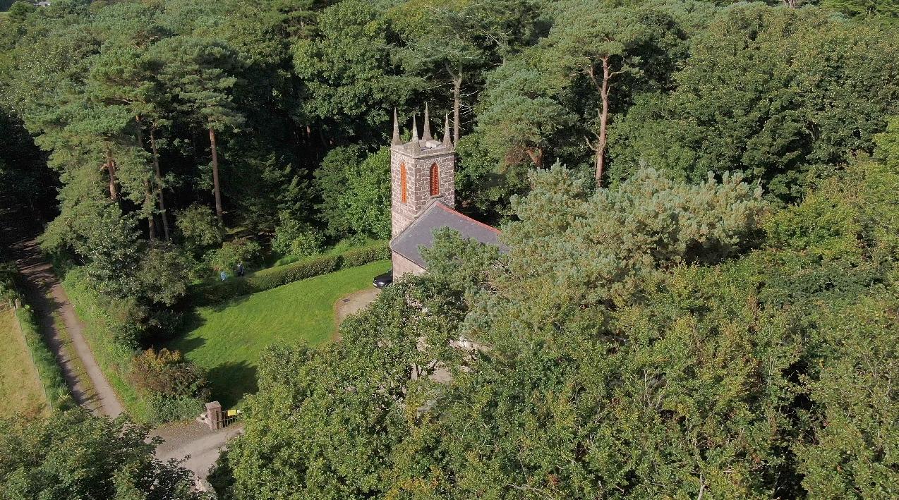 The Old Church Centre, a former Church of Ireland church, in Cushendun
