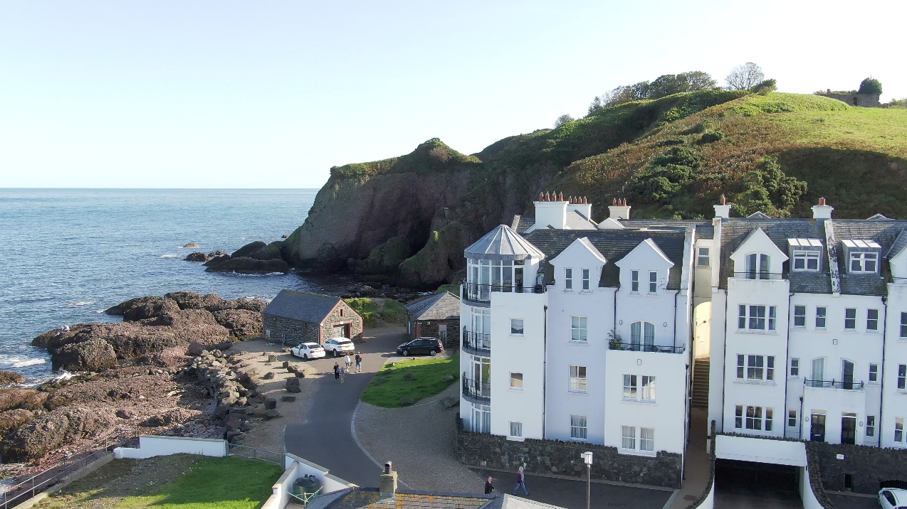Game of Thrones location The Red Caves and apartments at Cushendun, Glendun