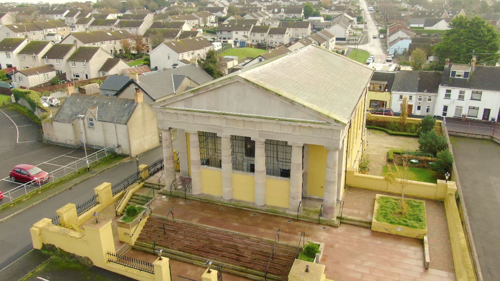 Aerial view of The Portico Ards Portaferry by Bout Yeh drone photography and video production Northern Ireland - image 5