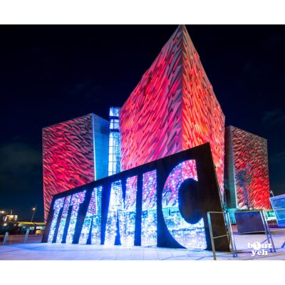 Photo of Titanic Belfast at night - photo 2742 for sale by Bout Yeh art gallery Belfast and Dublin, Ireland