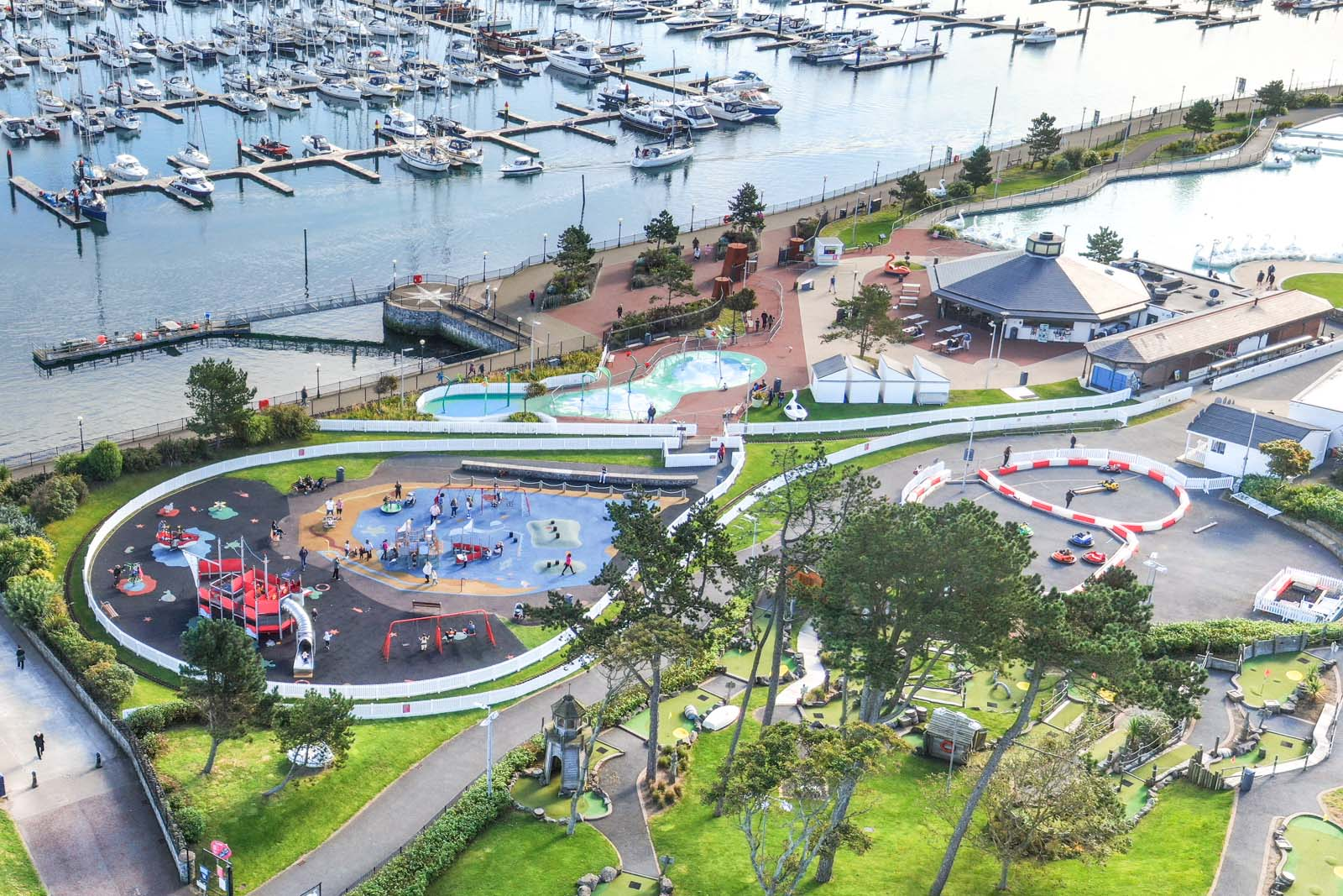 Aerial photo of Bangor Marina and Pickie Fun Park by Bout Yeh drone photography and video production services, Belfast and Northern Ireland - photo 0149-3