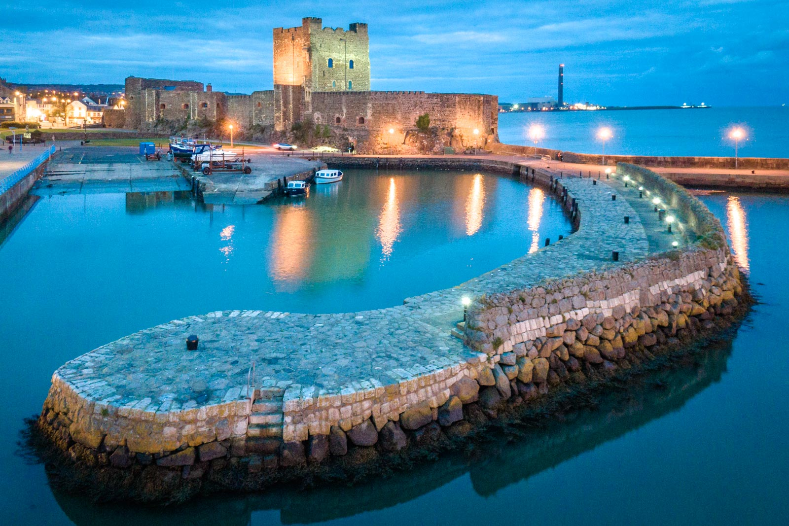 Aerial photo of Carrickfergus Castle by Bout Yeh drone photo video services Belfast and Northern Ireland - photo 0001-3