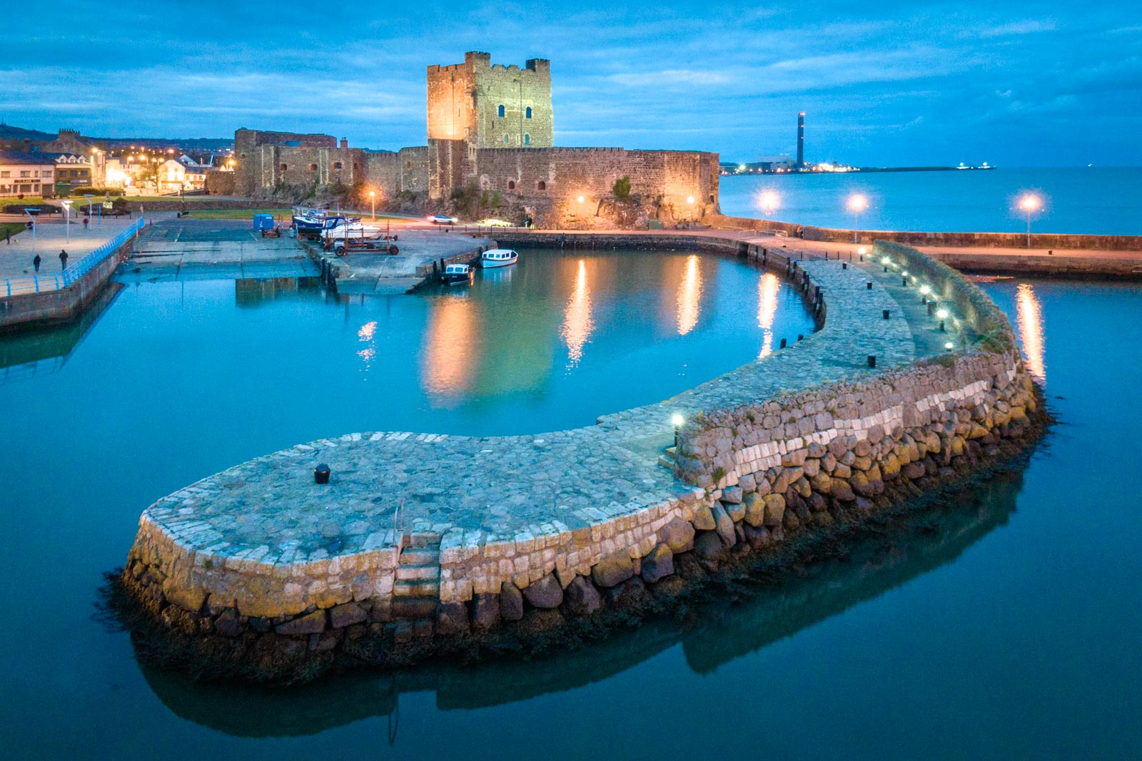 Aerial photo of Carrickfergus Castle by Bout Yeh drone photo video services Belfast and Northern Ireland - photo 0001