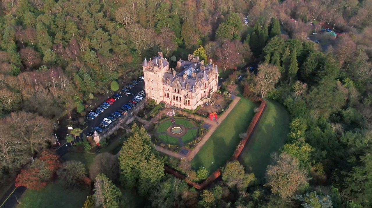 Screenshot of aerial video 3 of Belfast Castle, Belfast, by Bout Yeh drone photography and video production Northern Ireland - image 3