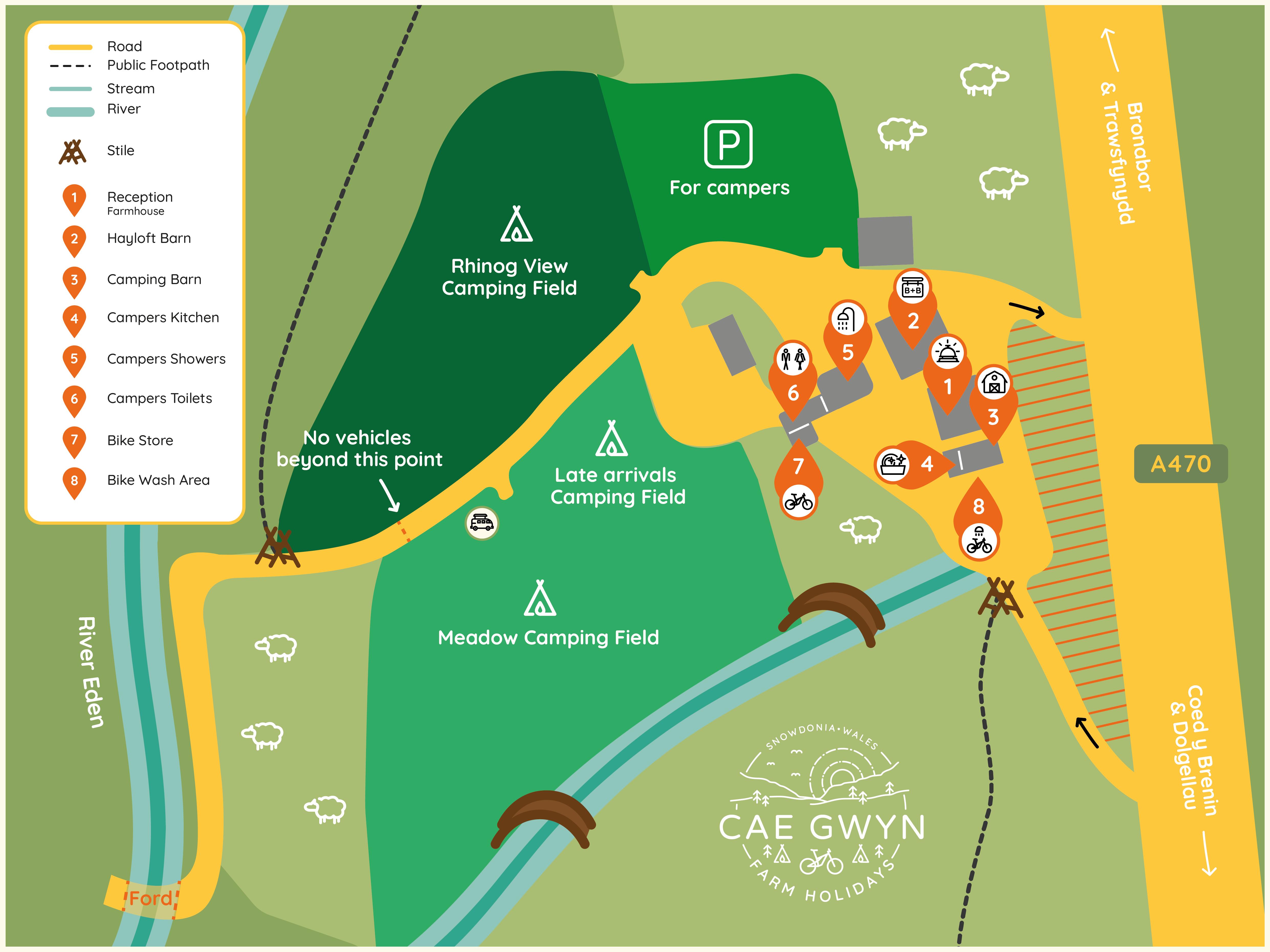 Map of Cae Gwyn farmyard