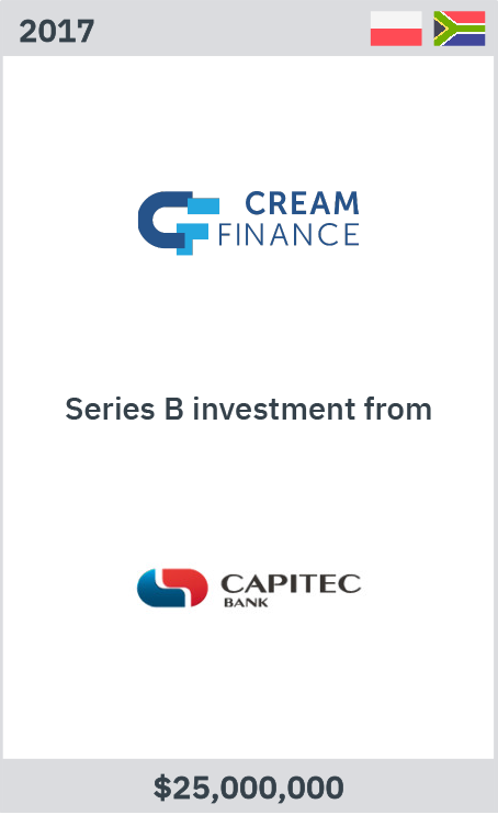 Cream Finance series B infestment from Capitec