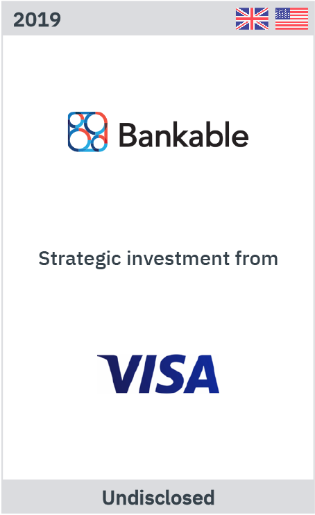 Zelig advises Bankable on strategic investment by Visa