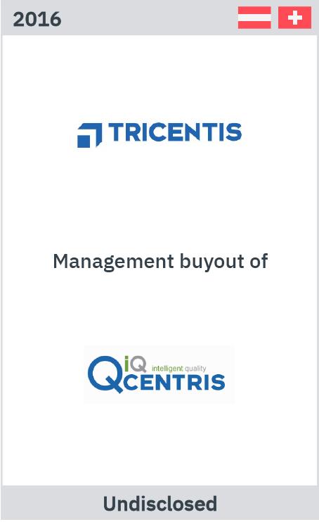 Zelig Associates advises Tricentris on MBO of QCentris