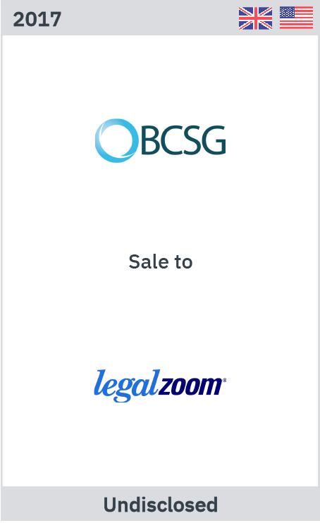 Zelig Associates advises BCSG on its sale to LegalZoom