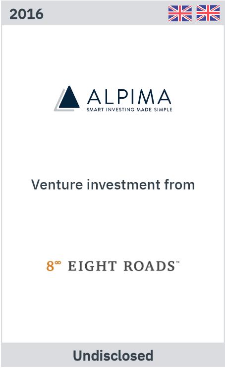 Alpima venture investment from Eight Roads