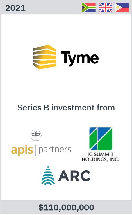 Tyme raises USD110m Series B from Apis Partners, JG Summit and Africa Rainbow Capital